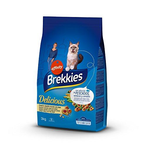 Brekkies Pienso para Gatos Delicious con una Selección de Pescado - 3
