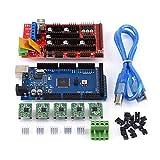 RAMPS 1.4,3D Stampante RAMPS 1.4 Controller + MEGA2560 R3 + A4988 Con dissipatore Calbe USB Ponticello Kit