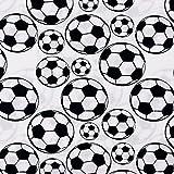 Baumwollstoff Fußball weiß - Preis gilt für 0,5 Meter