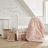 Levtex Baby - Skylar Crib Bed Set - Baby Nursery Set - Blush - Soft Cascading Ruffles - 4 ...