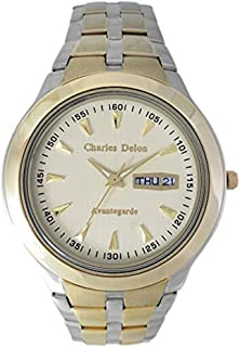Charles Delon Men's Quartz Watch, Analog Display and Solid Stainless Steel Strap 5247 GTCT
