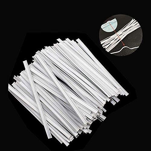 AGDLLYD Patillas de metal para nariz para un agarre seguro del protector nasal DIY, tiras de alambre de hierro recubierto de alta calidad (100 unidades)