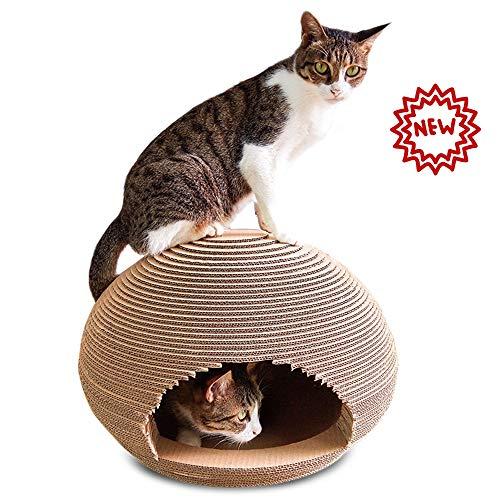 PETVE gegolfde kat huis, kat krabbers karton, machine creatieve doos kat huis slijpen nagel anti-Scratch bank