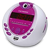 Metronic 477022 Radio-Réveil Enfant  Miss Angel MP3 USB Projection 180°-...