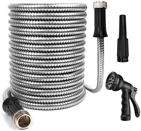 OUTFANDIA Stainless Steel 304 Irrigation Hose We High material Garden 25 Excellence Feet