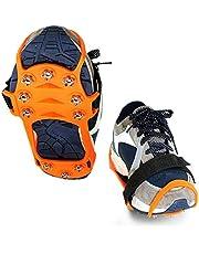 Swide Crampones de Hielo para Botas Pinzas de Hielo universales Antideslizantes Tacos de tracción Zapatos de Gomas para Nieve Pinchos crampones para Senderismo Jogging Camping First-Rate