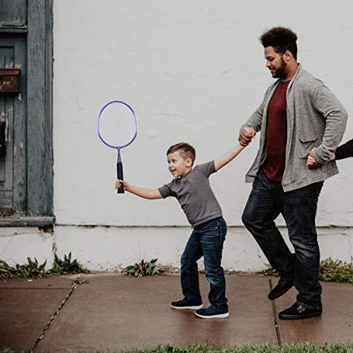RENFEIYUAN Kinder-Badminton-Schläger-Set (Pink 46cm 35 Jahre alt) Badminton Sets (Color : Perple Blue)