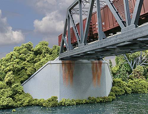 Walthers SceneMaster Cornerstone HO Scale Model Double-Track Railroad Bridge Concrete Abutment 2 Pack