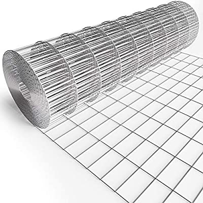 """Amagabeli 36inch x 50ft Hardware Cloth 2""""X4"""" Square Openings Hot-Dipped Galvanized Welded 14 Gauge Wire Mesh Fence Roll for Garden Fencing Deer Sheep Animal Enclosure"""
