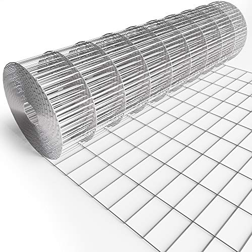 Amagabeli 36inch x 50ft Hardware Cloth 2'X4' Square Openings Hot-Dipped Galvanized Welded 14 Gauge Wire Mesh Fence Roll for Garden Fencing Deer Sheep Animal Enclosure