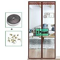ドアカーテンコットン カーテントランスペアレント網戸 マグネット付きドアカーテン、クールな夏、暖かい冬と、オートクローザー 、お金を節約 、外装ドア Ljianw (Color : Clear, Size : 80X190cM)
