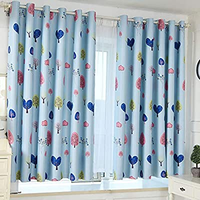 1 Panel Blackout Curtains Solid Color Grommet Sheer Curtain Panels Thermal Insulated Blackout Window Curtain Voile Drape Valances for Bedroom & Living Room - 39.4X78.7""