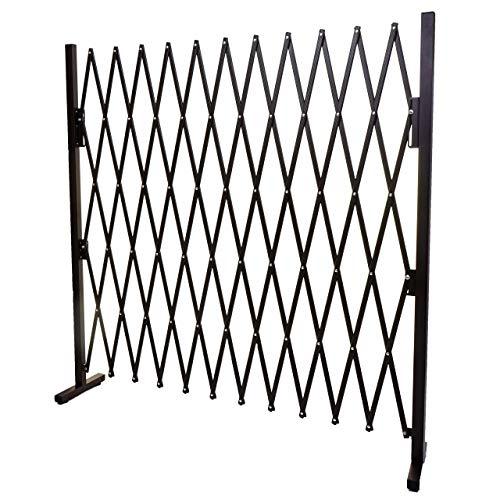 Mendler Grillage HWC-B34, Grille protectrice télescopique, Aluminium Marron ~ Hauteur 153cm, Largeur 36-300cm