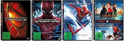 Spider-Man 1+2+3 + The Amazing Spider-Man 1+2 + Spider-Man Homecoming + Spider-Man Far From Home [DVD Set] 7 Discs