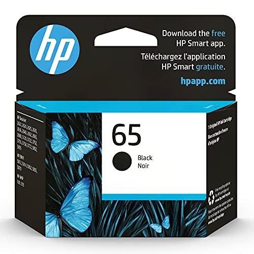 HP 65 | Ink Cartridge | Black | Works with HP DeskJet 2600 Series, 3700 Series, HP ENVY 5000 Series, HP AMP 100, 120, 125, 130 | N9K02AN