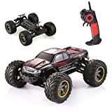 GPTOYS S911 RC Car 1/12 Scale Electric Car Supersonic Explorer Offroad 2.4Ghz 2WD 42km/h Waterproof Remote Control Monster Truck - Gift for Kids and Adults - Red