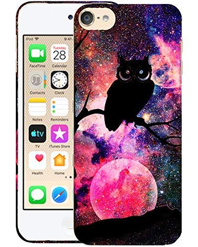 Glisten iPod Touch 7th / 6th / 5th Generation Case - Owl Nebula Design Printed Slim Fit & Cute Plastic Hardshell Designer Back Case for iPod Touch (7th, 6th & 5th) Gen.