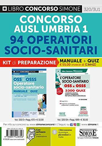 Concorso AUSL Umbria 1. 94 Operatori socio-sanitari. Kit di preparazione. Manuale + Quiz