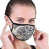 Unisex-Masken Selbst gemachte Schädel-Plätzchen Halloween auf weißer staubdichter...
