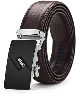 Men Automatic Buckle Ratchet Belts For Men Formal 3.5cm Wide Luxury Brand Belt