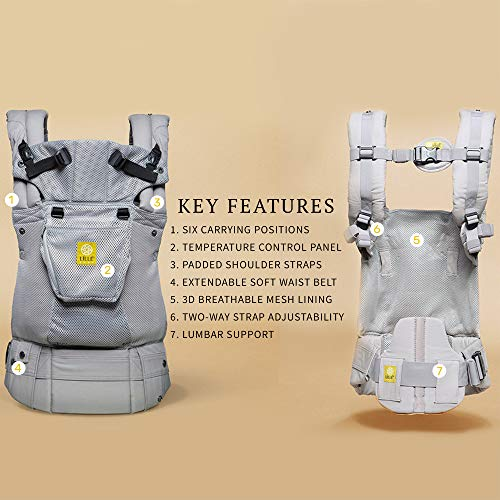 SIX-Position, 360° Ergonomic Baby & Child Carrier by LILLEbaby – The COMPLETE Airflow (Mist)