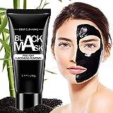 ROMOSS Blackhead Remover Mask, Blackhead Peel Off Face Mask, Charcoal Face Mask, Blackhead Mask, Deep Cleansing Black Mask, Pore Shrinking Facial Mask for Face Nose 60G