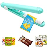 Mini Bag Sealer, Handheld Heat Sealer Plug-in Sealing Machine, Corrugated Suspension Ceramic Heating Sheet with 43.3 inch Power Cable for Airtight Food Storage, Mylar Bags, Plastic Bags