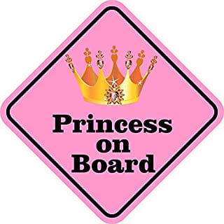 StickerTalk Princess on Board Magnet, 5 inches by 5 inches