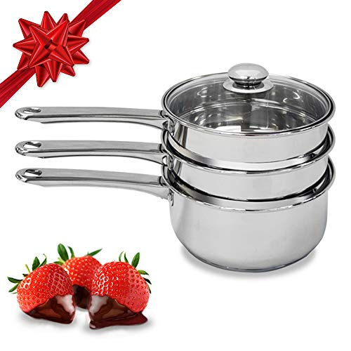 Double Boiler & Steam Pots for Melting Chocolate, Candle Making and more -...