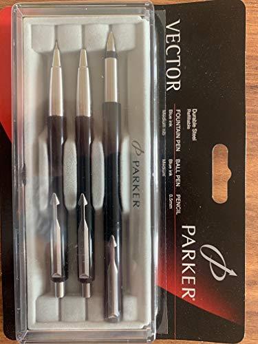 Parker Vector Set Füller+ Kugelschreiber + Bleistift Nachfüllbar