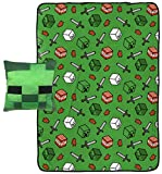 Jay Franco Minecraft Creeper Plush Pillow and 40' Inch x 50' Inch Throw Blanket - Kids Super Soft 2 Piece Nogginz Set (Official Marvel Product)