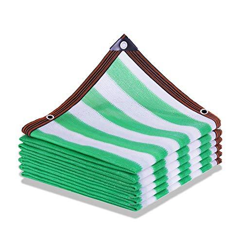 BUYAOBIAOXL Sonnensegel Schatten Netting mit Ösen Green Stripes Schatten Trümmer Gerüst Netting Windjacke Privacy Zaun für Pflanzenbezüge (Color : Green White Stripes, Size : 4 * 10m)