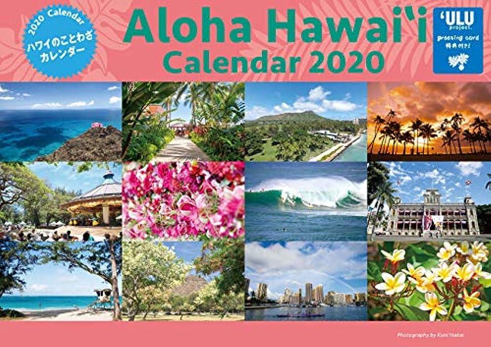 熱心なファンタジーキャンバス2020年「ハワイのことわざ カレンダー」(特典greeting card封入) (Aloha Hawai`i Calendar 2020)