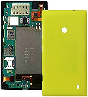 Leya for Nokia Repair Parts Plastic Back Housing Cover for Nokia Lumia 520(Black) (Color : Yellow)