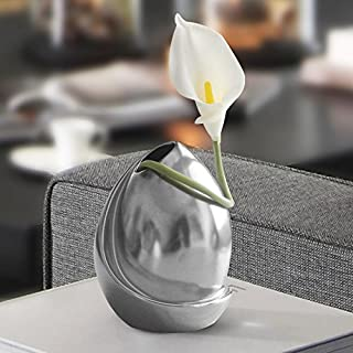 Situmi Artificial Fake Flowers Calla Lily Flower Vase Creative Wedding Bridal Bouquet Decorative Gray Home Accessories