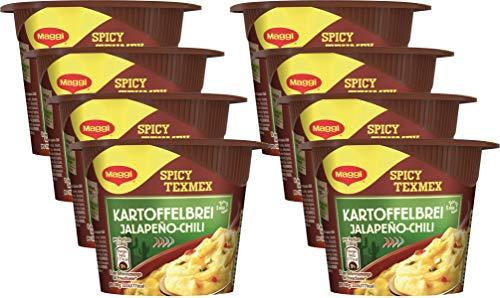 Maggi 5 Minuten Terrine Kartoffelbrei Jalapeño Chili, 8er Pack (8 x 42 g)