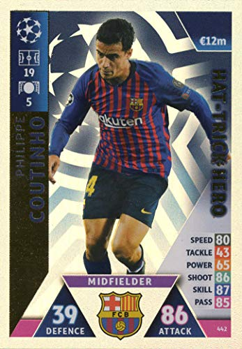 Match Attax Champions League 18/19 Philippe Coutinho HAT-Trick Hero Trading Card – F.C. Barcelona 18/19