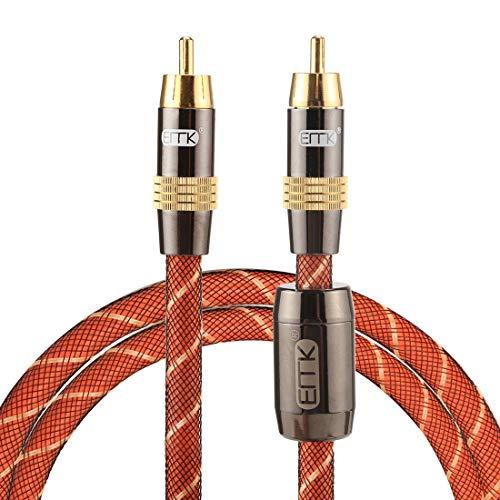 Licht en mooi, gemakkelijk te dragen. TZ/A 1m OD8.0mm vergulde metalen kop RCA naar RCA Plug Digital Coaxial Interconnect Kabel Audio / Video RCA kabel, klein formaat, licht gewicht en gemakkelijk te dragen