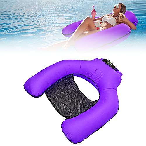 Yulefly Pool Stühle Luftmatratze Aufblasbare Wasserhängematte 200kg Wasserstuhl Nylonmaterial Water Floating Pool Hängematte Wasserdicht Schwimmstuhl Wasserliege mit Tasche für Pool Schwimmbädern