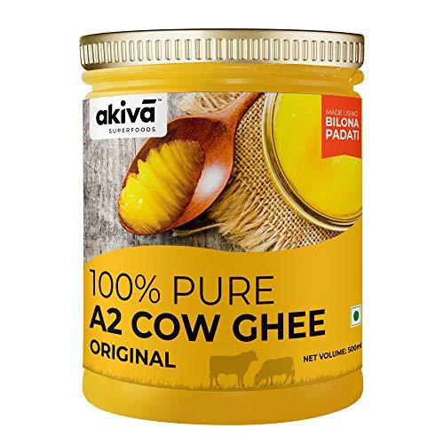 Akiva Superfoods Pure Desi A2 Cow Ghee from Bilona Method - (Original), 500 ml