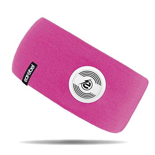Preisvergleich Produktbild Earebel Lifestyle Slim Headband in Pink - kabellose Übertragung über Bluetooth (Mit integriertem,  kabellosen Bluetooth - Kopfhörern und Mikrofon zum Telefonieren)