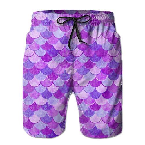 NiYoung Men's Adjustable Drawstring Elastic Waist Swim Trunks Beach Shorts