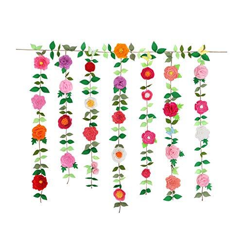 QKIYI Sewing Kits DIY Felt Applique Ornament Kits Door Hanging Kit Hanging Wall Decor, 9.8ft & 7.8ft