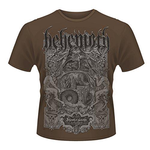 Behemoth Herren Leviathan T-Shirt, Braun (Brown), XXL
