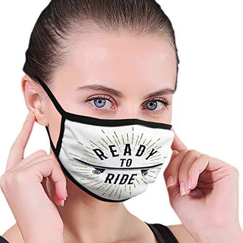 Mouth Scraf Face Cover Anit Dust Shield 90S Themenabzeichen mit Skateboard strukturiert und fahrbereit Inspirati