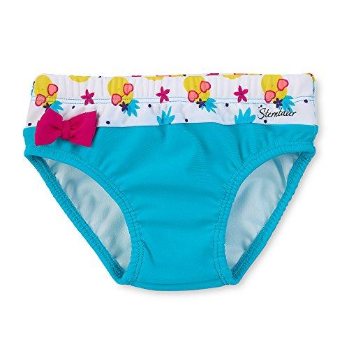 Sterntaler Kinder Mädchen Badehose mit Windeleinsatz, UV-Schutz 50+, Alter: 2-3 Jahre, Größe: 86/92, Türkis/Weiß