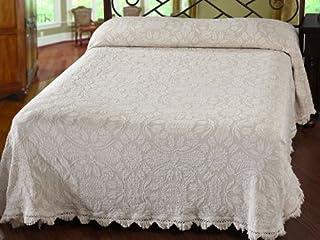 Maine Heritage Weavers Colonial Rose Bedspread, Full, Sage
