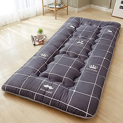 KIODS Thicken Futon Mattress Tatami Floor Mat Foldable Bed Mattres Floor Lounger Couch Bed,90cm×190cm