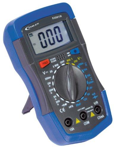 Philex 83001R Digitaler Multimeter CAT III 10A/600V mit Batterietester
