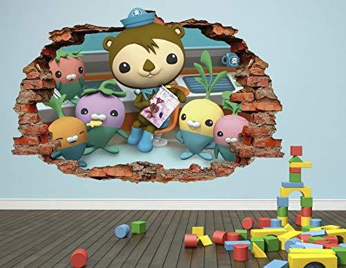 FHMYCSQ Etiqueta de la pared 3D Smashed Wall Decal Gráfico Pegatina phantom samurai deco vinilo niños verde